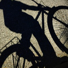 my bike shadow