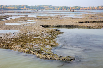 Sediments in the Cunovo Dam on the Danube river - Slovakia