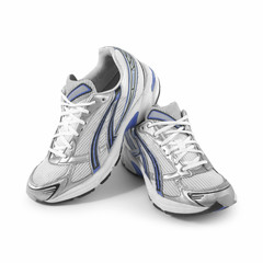 Sportschuhe Joggingschuhe Schuhe isoliert auf weißem Hintergrund