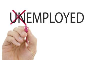 Changing word Unemployed into Employed