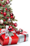 Fototapety Decorated Christmas tree and gifts