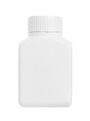 Drug bottle isolated on white background