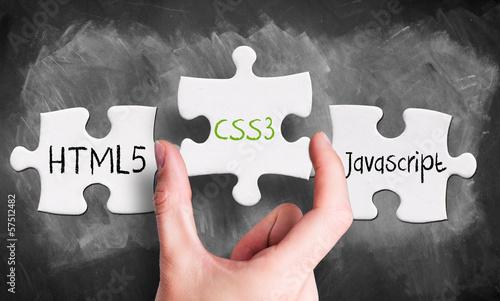 Kerntechnologien für Web-Seiten als Puzzle