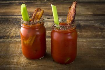 Mason Jar Bacon Bloody Marys