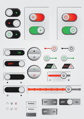 toggle switch on off button web decoration icon