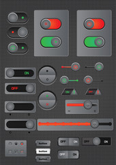 toggle switch on off button web decoration
