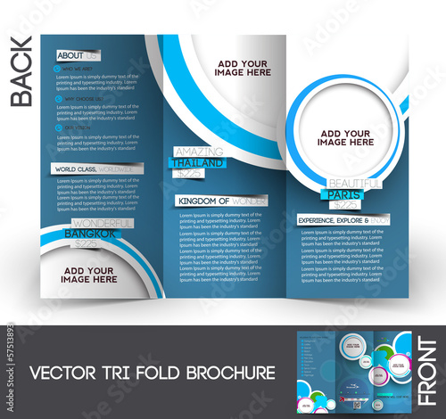 Tri-Fold Travel Mock up & Brochure Design