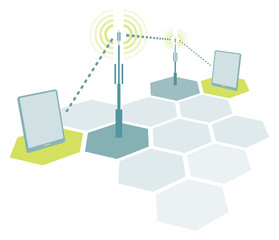 Wireless tablet network communication