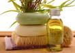 Wellness Öl Bürste Seife Schwamm