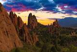 Sunset Image of the Garden of the Gods. - 57514691