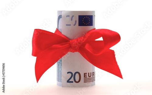 Euro Rote Schleife