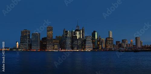 Foto op Aluminium New York Early morning New York City skyline panorama