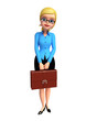 Office girl with bag