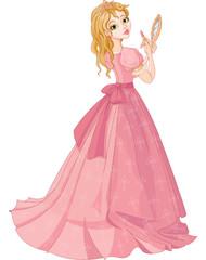 Princess with lipstick