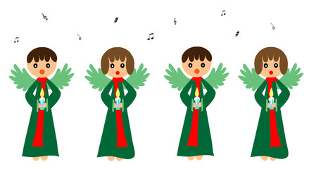 Singing angels