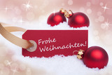 Red Banner With Frohe Weihnachten