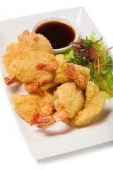 Tiger shrimp fried in Tempura