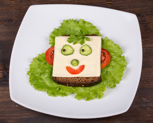 Face on bread