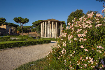temple of Hercules in Rome. Italy.