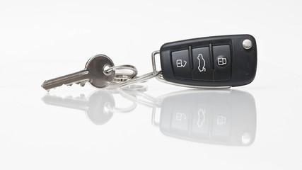 Haus und Autoschlüssel.