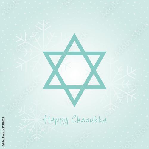happy chanukka karte mit schnee