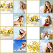 Weihnachts-Collage: Geschenkanhänger Engel