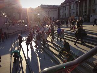 steps trafalgar square