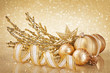 Christmas golden decoration