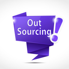 origami speech bubble : outsourcing