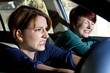 two women bracing for a car crash accident - 57519651
