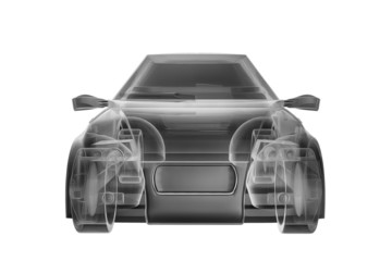 Abstract car design