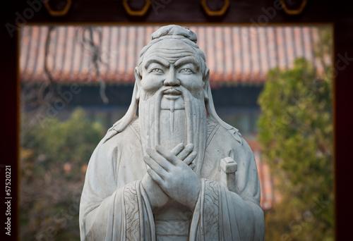 Foto op Aluminium Beijing statue of Confucius in Temple of Confucius in Beijing, China