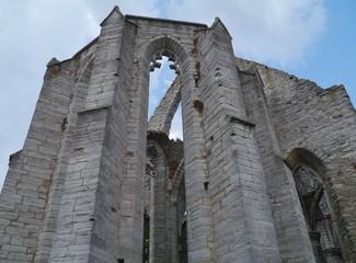 Ruin of the saint Catherine church in Visby