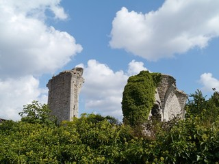 Ruin of the saint Hans and saint Per church in Visby