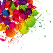 Colored splashes in abstract shape