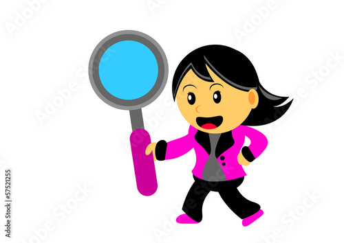 Chibi Woman Cartoon Character