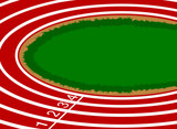 Racetrack cartoon scene sport background