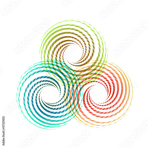 Abstract circle design elements