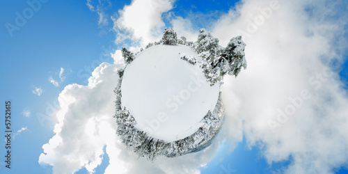 Troodos moiuntains. Snowy little planet