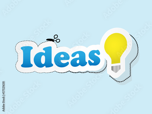 """IDEAS"" Sticker (stamp tag concept design solutions label)"