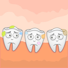 Vector Illustration of toothache