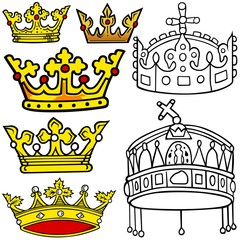 Royal Crown - Colored Heraldic Illustrations