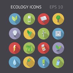 Flat Icons For Ecology