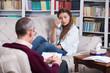 Psychiatrist and patient Teenage girl