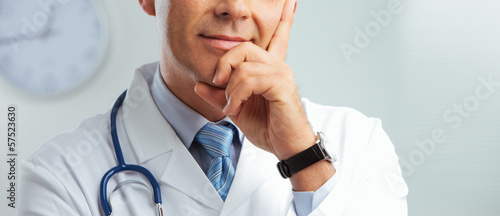 Close up portrait of a handsome doctor