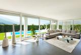Modern house, interior, beautiful living room