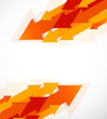Abstract background with orange arrows