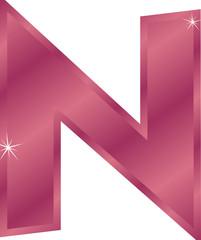 Buchstabe N mit Sternchen