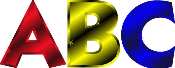 Buchstaben ABC Alphabet Schulstart