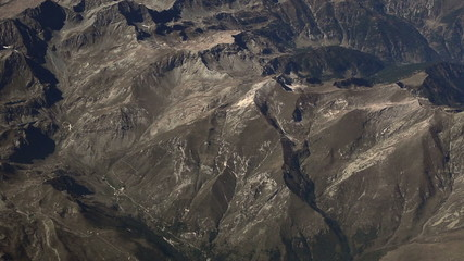 Apennine mountains Italy aerial shot